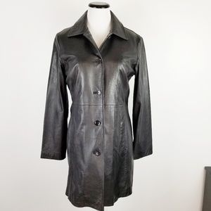 WILSONS LEATHER Thinsulate Long Black Button Coat